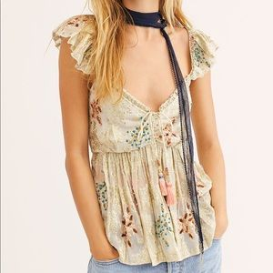 Free People All That Shimmers Jacquard Top